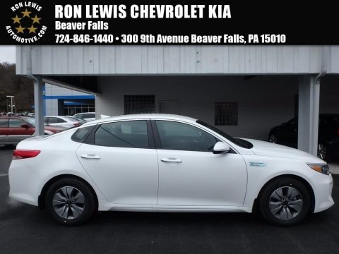 Snow White Pearl 2017 Kia Optima Hybrid