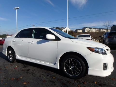 Super White 2012 Toyota Corolla S