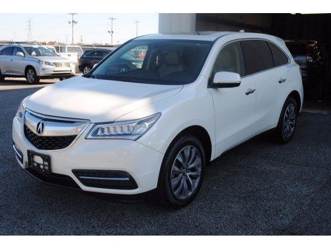 White Diamond Pearl 2015 Acura MDX Technology
