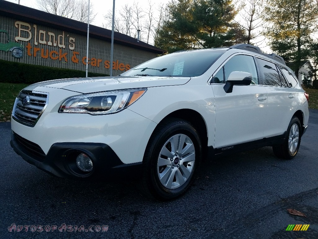 2016 Outback 2.5i Premium - Crystal White Pearl / Warm Ivory photo #1