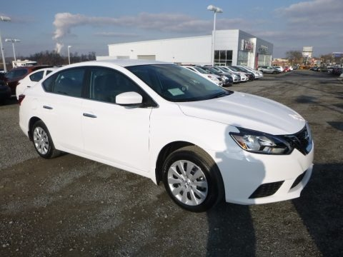 Fresh Powder White 2018 Nissan Sentra S