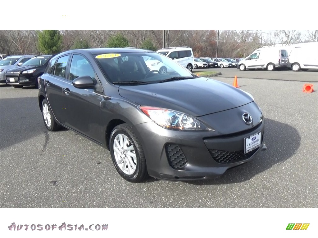 2013 MAZDA3 i Touring 5 Door - Dolphin Gray Mica / Black photo #1