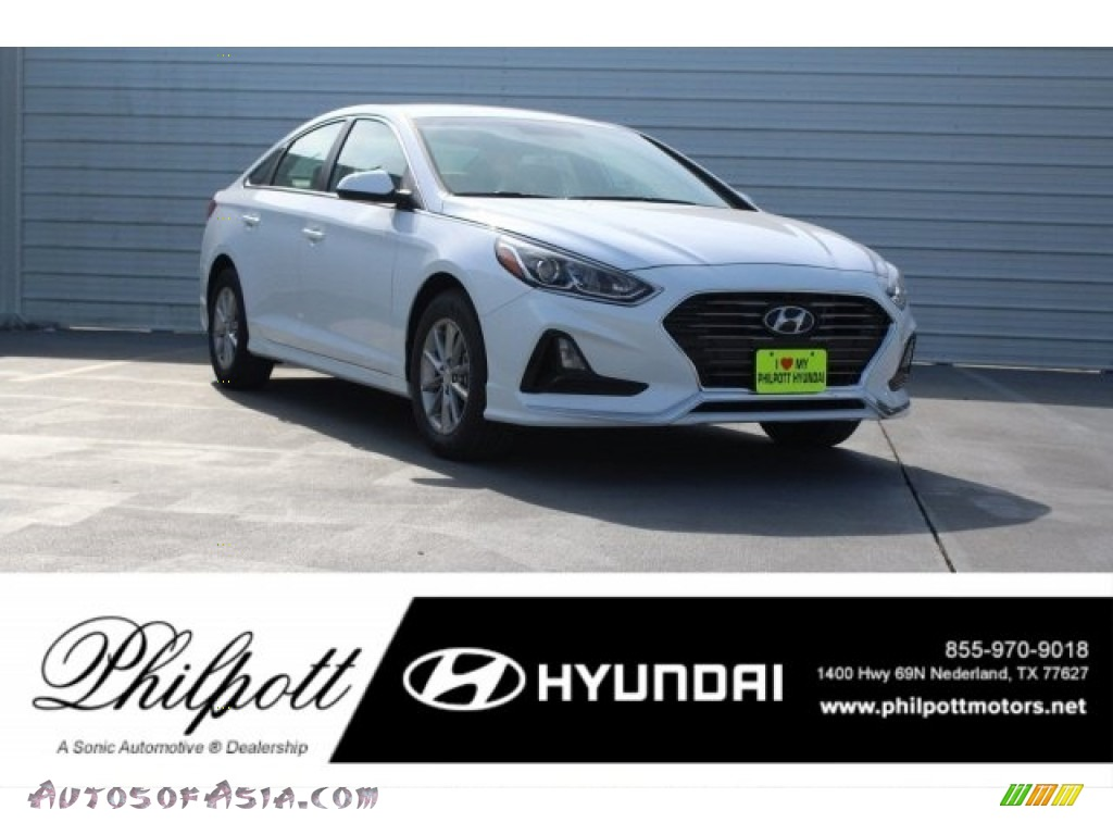 2018 Sonata SE - Quartz White Pearl / Gray photo #1