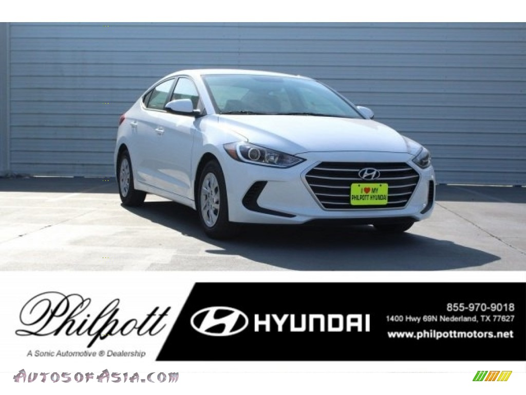 2018 Elantra SE - Quartz White Pearl / Black photo #1