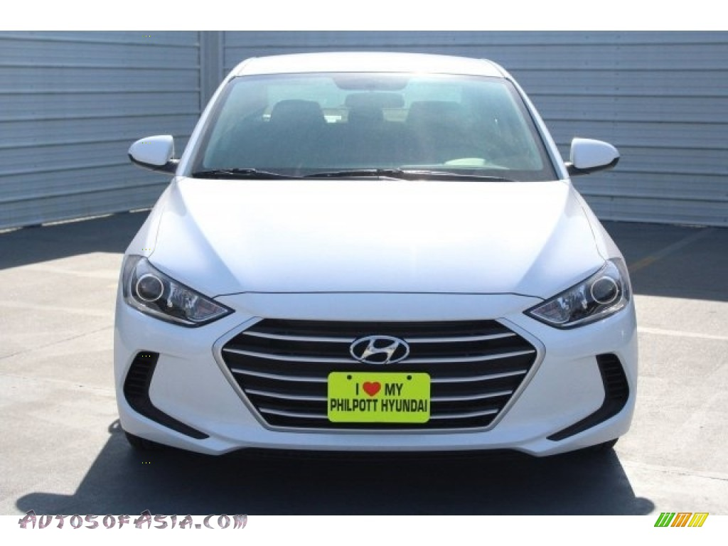 2018 Elantra SE - Quartz White Pearl / Black photo #2