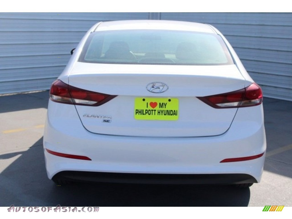 2018 Elantra SE - Quartz White Pearl / Black photo #7