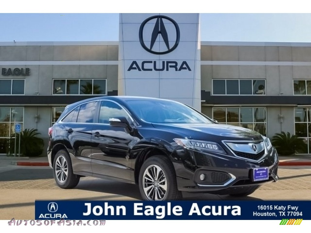 Crystal Black Pearl / Parchment Acura RDX FWD Advance