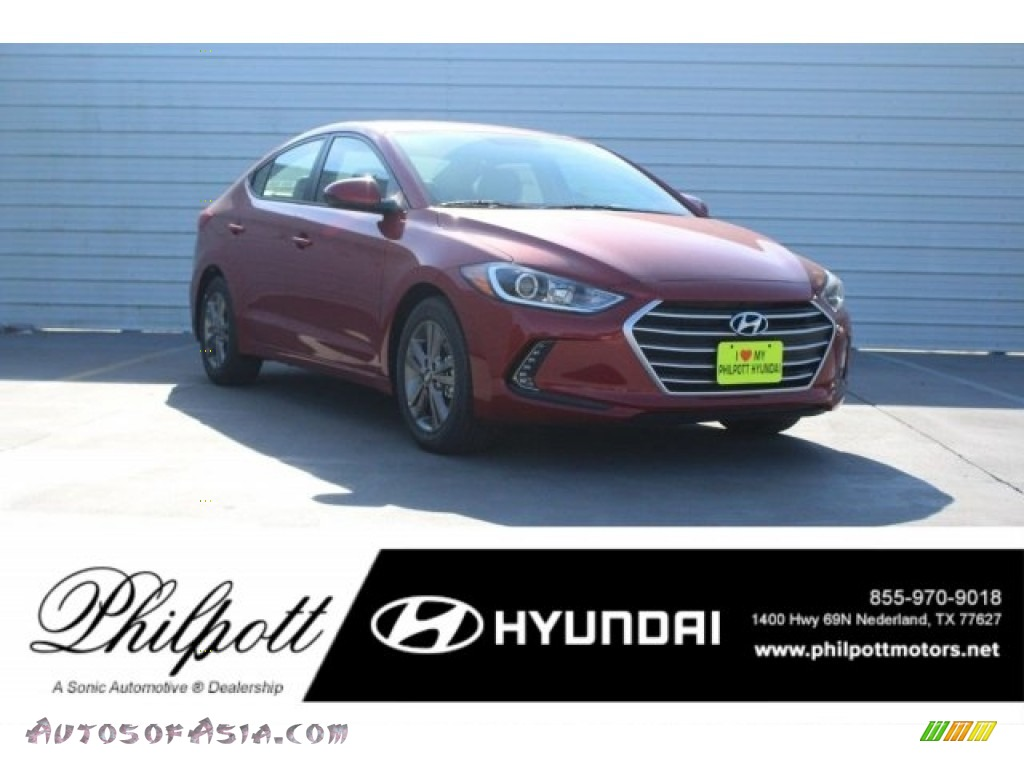 2018 Elantra Value Edition - Scarlet Red / Gray photo #1