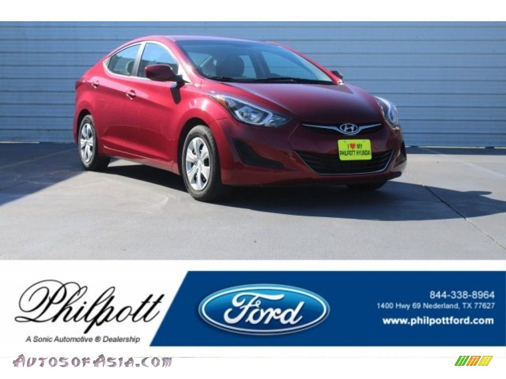 Red / Gray Hyundai Elantra SE