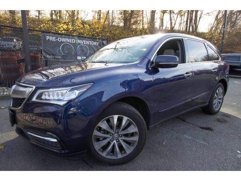 Fathom Blue Pearl 2015 Acura MDX SH-AWD Technology