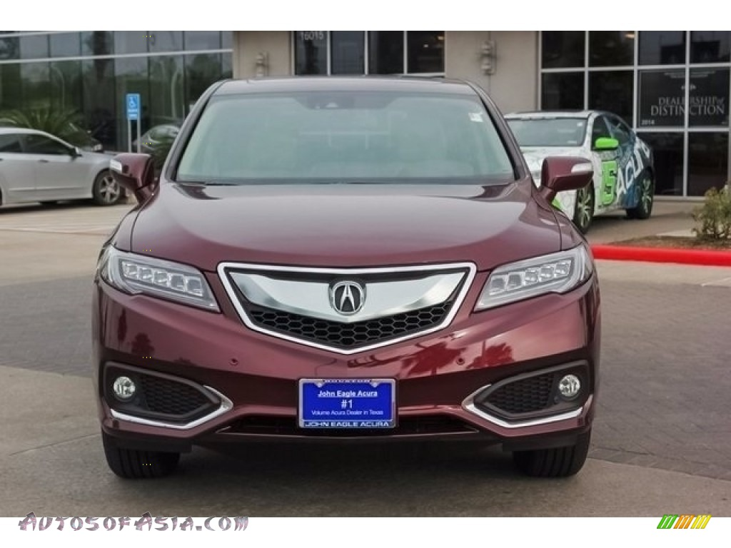 2018 RDX FWD Advance - Basque Red Pearl II / Parchment photo #2