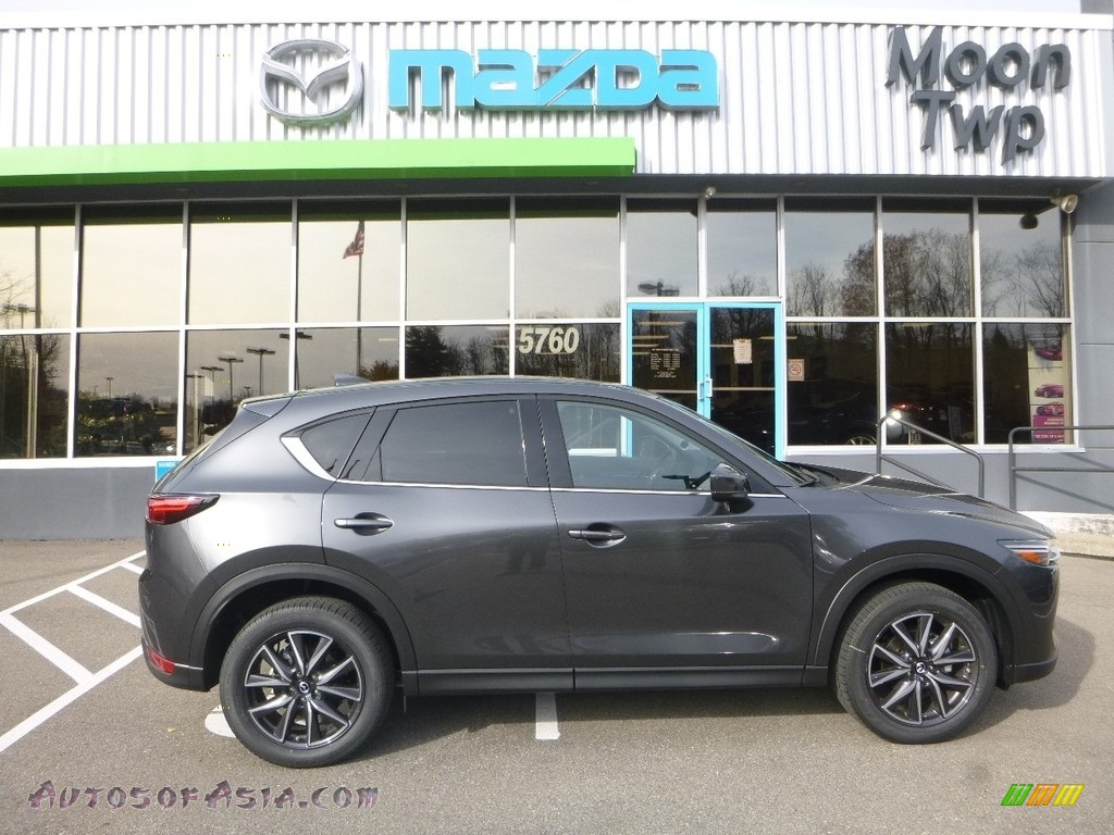 Meteor Gray Mica / Black Mazda CX-5 Grand Touring AWD