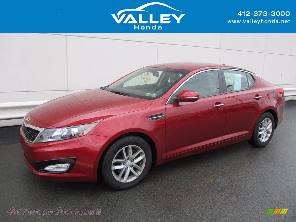 2013 Optima LX - Remington Red / Beige photo #1