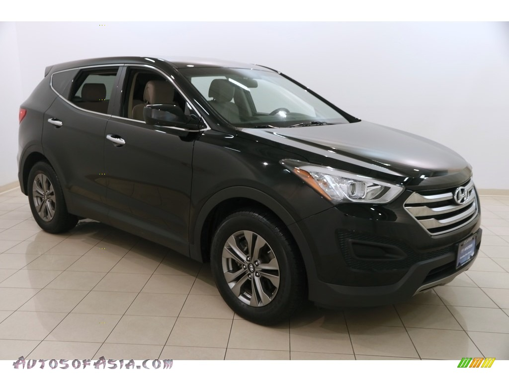 2015 Santa Fe Sport 2.4 AWD - Twilight Black / Beige photo #1