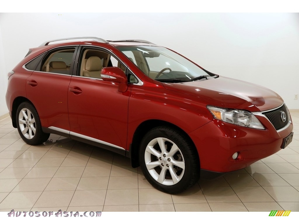 2010 RX 350 AWD - Matador Red Mica / Parchment/Brown Walnut photo #1