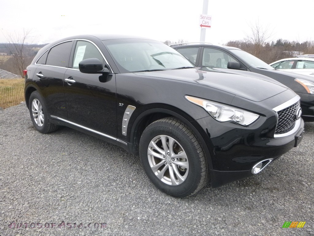 2017 QX70 AWD - Black Obsidian / Graphite photo #1