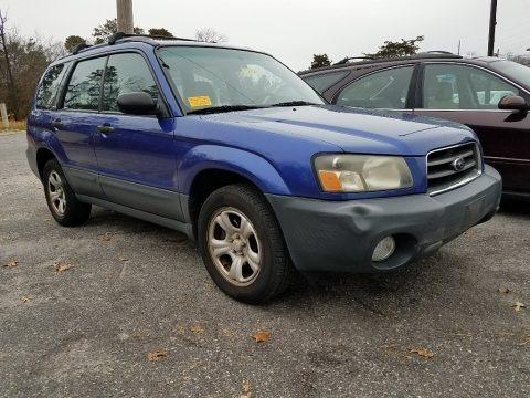 Pacifica Blue Metallic 2003 Subaru Forester 2.5 X