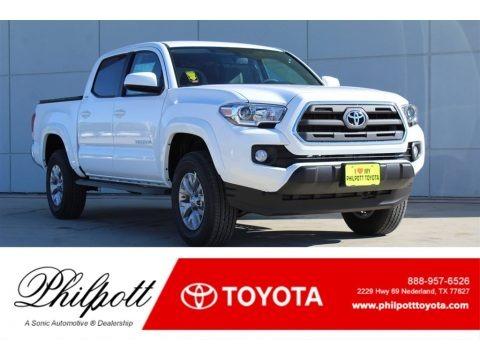 Super White 2017 Toyota Tacoma SR5 Double Cab