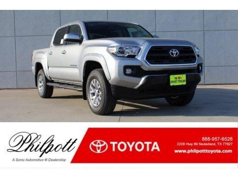 Silver Sky Metallic 2017 Toyota Tacoma SR5 Double Cab