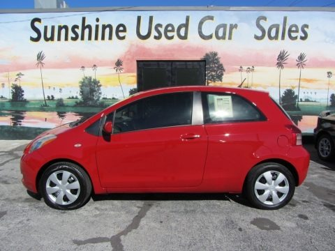 Absolutely Red 2007 Toyota Yaris 3 Door Liftback
