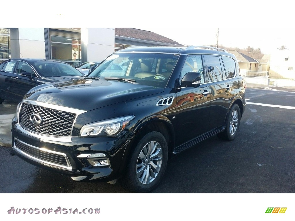 2017 QX80 Limited AWD - Black Obsidian / Graphite photo #1