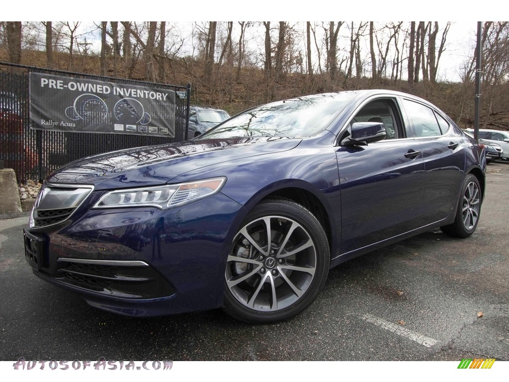 2017 TLX V6 Technology Sedan - Fathom Blue Pearl / Graystone photo #1