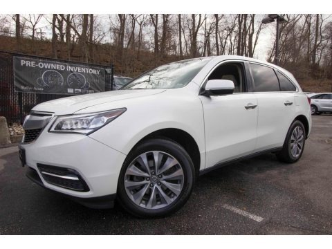 White Diamond Pearl 2015 Acura MDX SH-AWD Technology