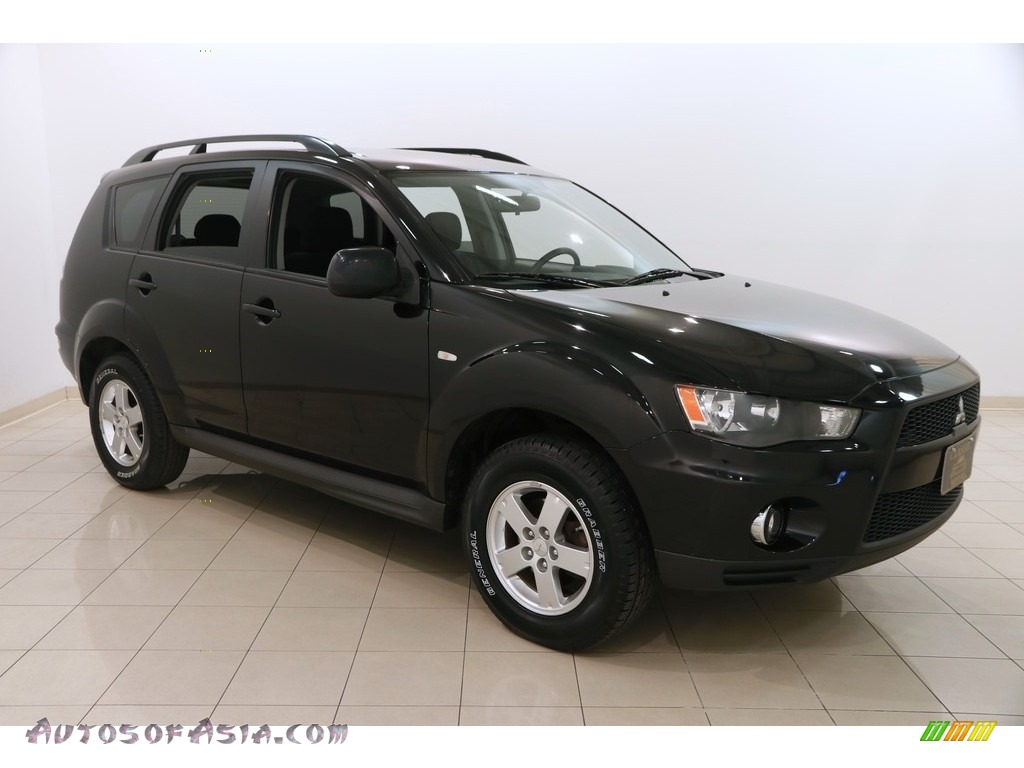 2010 Outlander ES - Labrador Black Pearl / Black photo #1
