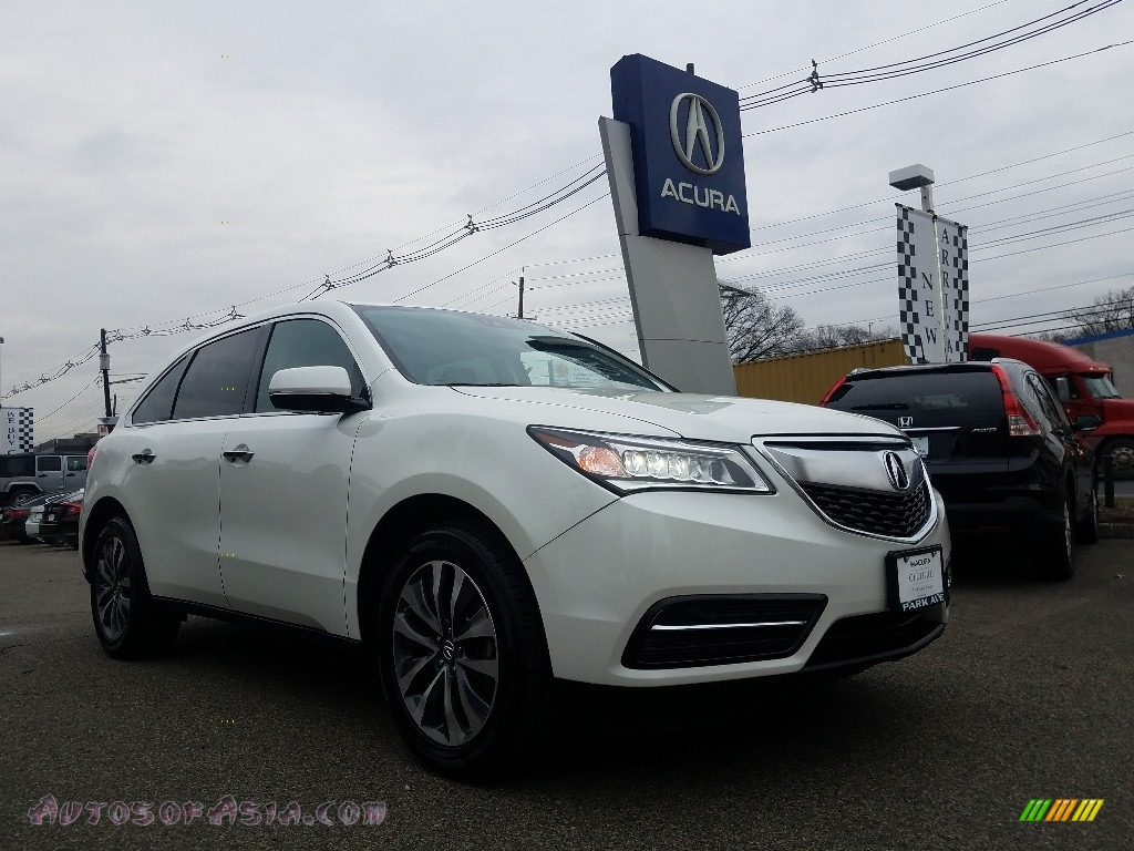 White Diamond Pearl / Ebony Acura MDX SH-AWD Technology