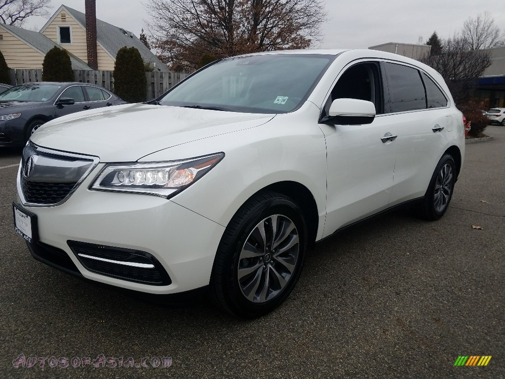 2016 MDX SH-AWD Technology - White Diamond Pearl / Ebony photo #3