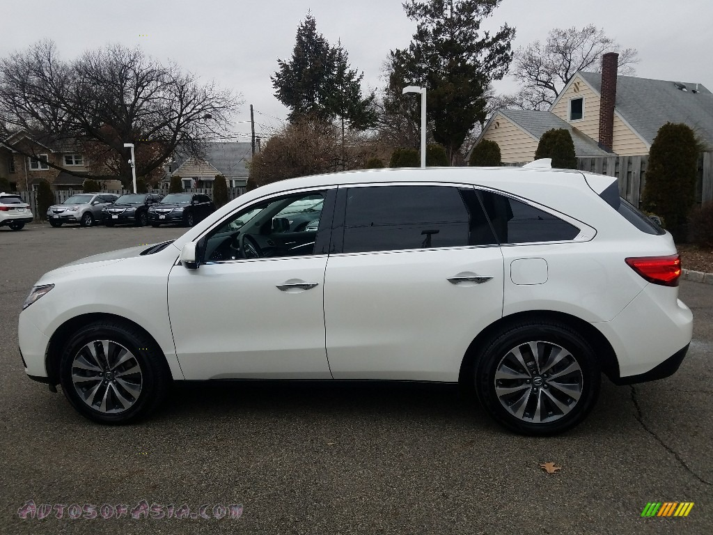 2016 MDX SH-AWD Technology - White Diamond Pearl / Ebony photo #4