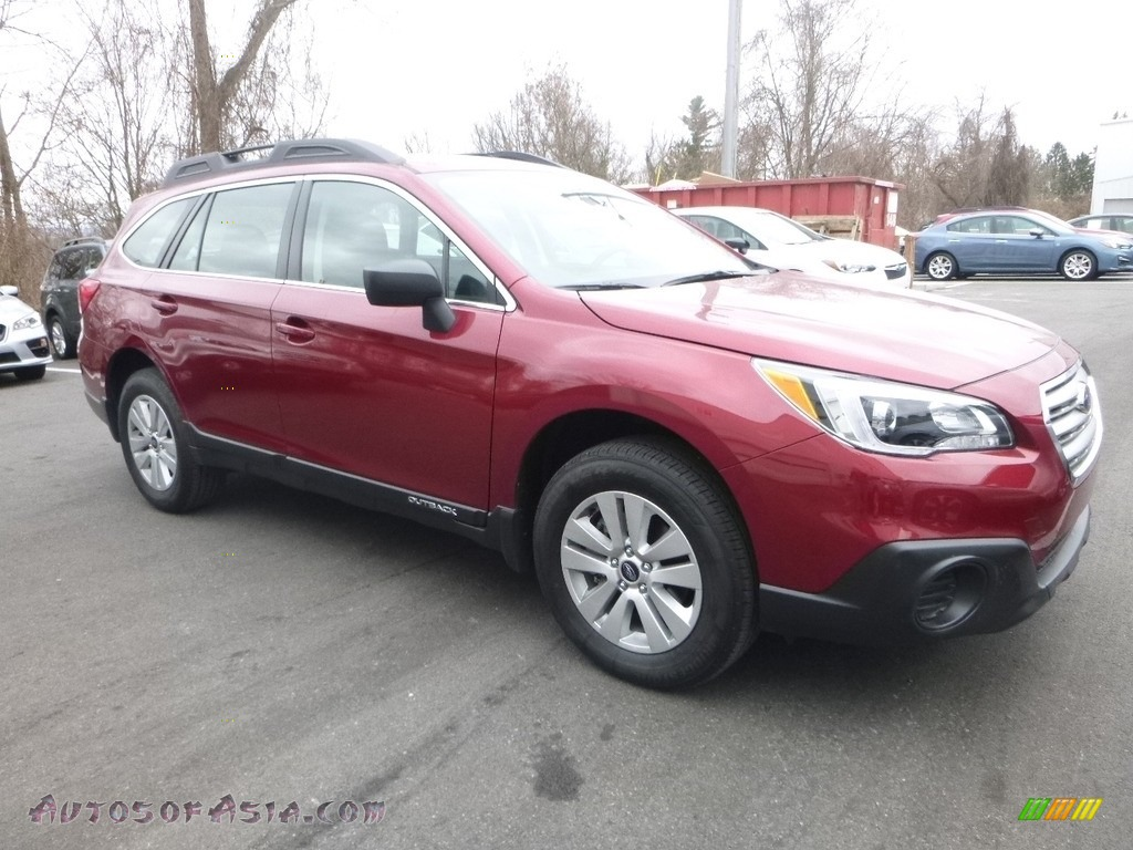 2017 Outback 2.5i - Venetian Red Pearl / Slate Black photo #1