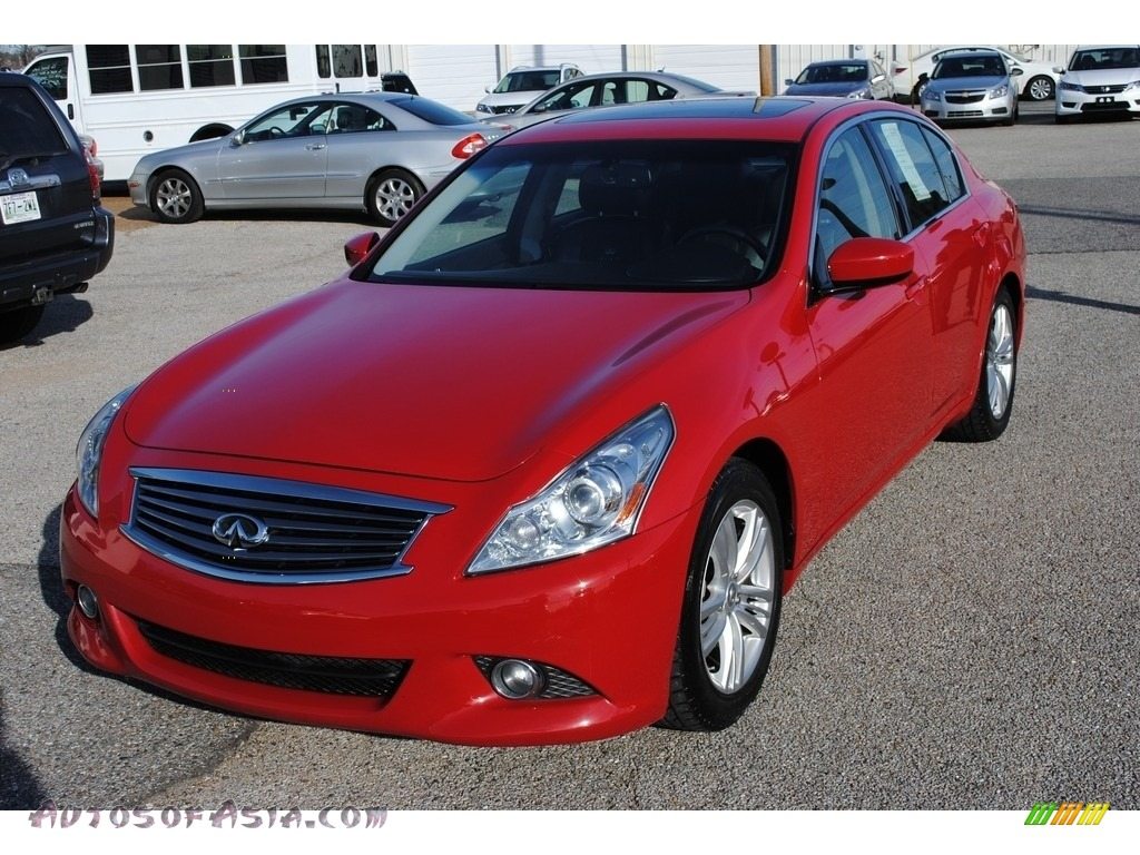 2011 G 37 Journey Sedan - Vibrant Red / Graphite photo #1