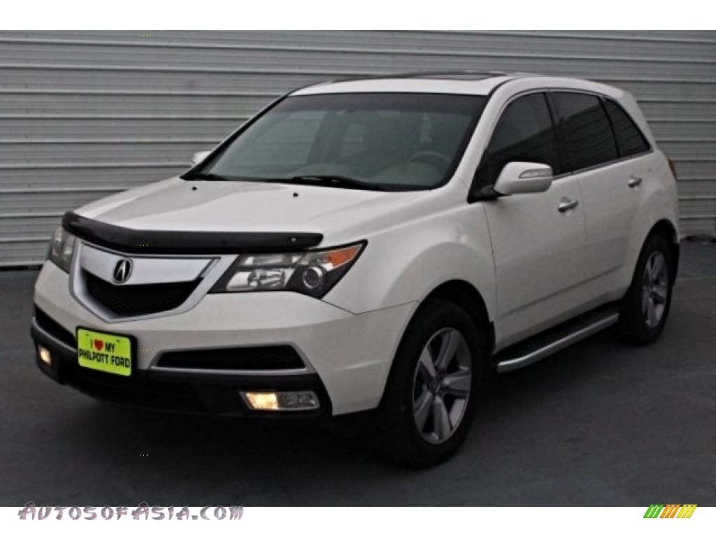 2011 MDX Technology - Aspen White Pearl / Ebony photo #3
