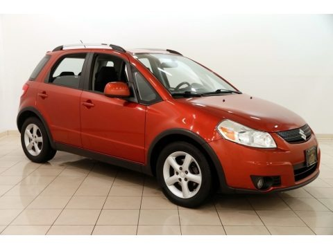 Sunlight Copper Metallic 2009 Suzuki SX4 Crossover Touring AWD