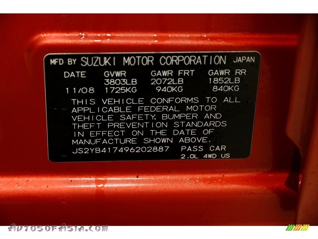 2009 SX4 Crossover Touring AWD - Sunlight Copper Metallic / Black photo #24