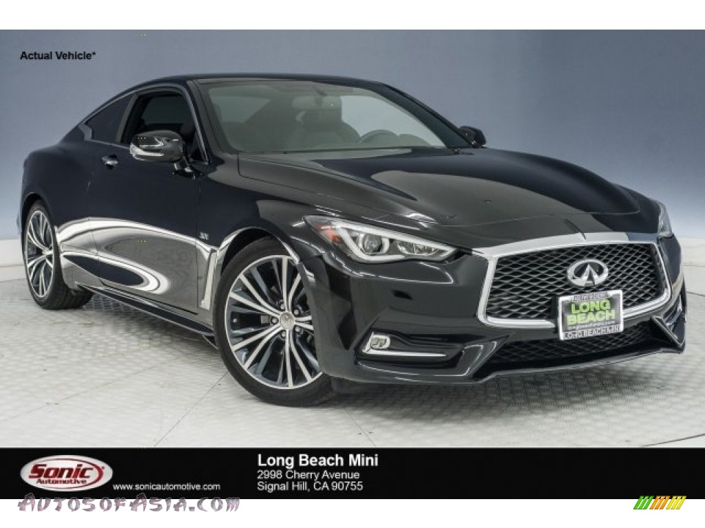 Midnight Black / Graphite Infiniti Q60 3.0t Premium Coupe