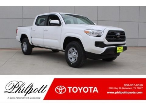 Super White 2018 Toyota Tacoma SR Double Cab