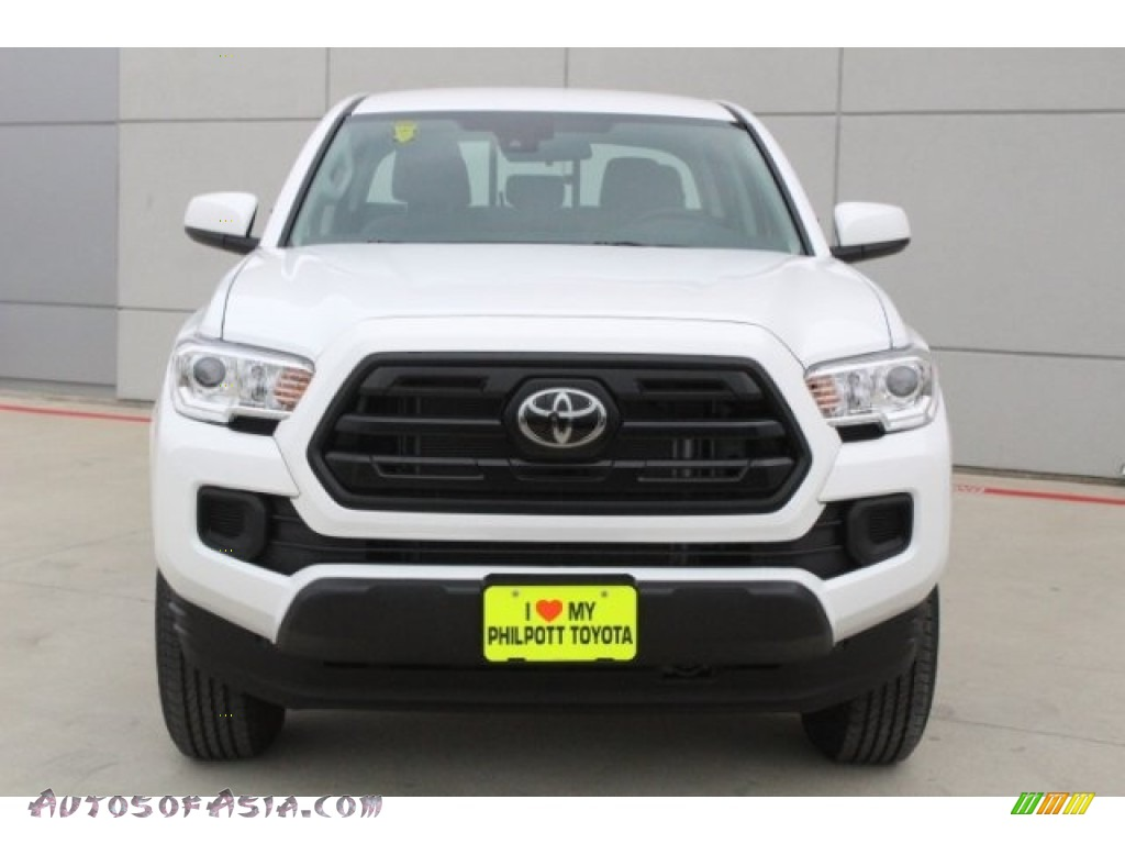 2018 Tacoma SR Double Cab - Super White / Cement Gray photo #2