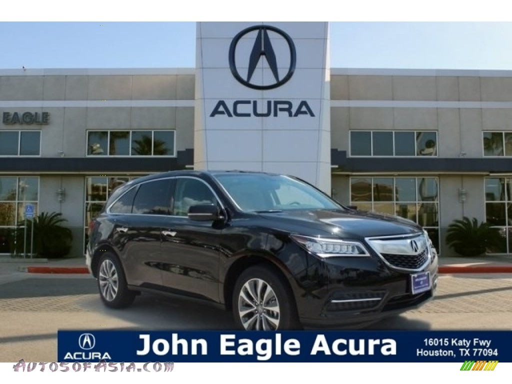 2016 MDX SH-AWD Technology - Crystal Black Pearl / Parchment photo #1