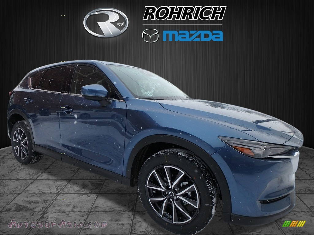 2018 CX-5 Grand Touring AWD - Eternal Blue Metallic / Black photo #1