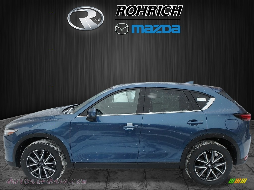 2018 CX-5 Grand Touring AWD - Eternal Blue Metallic / Black photo #3