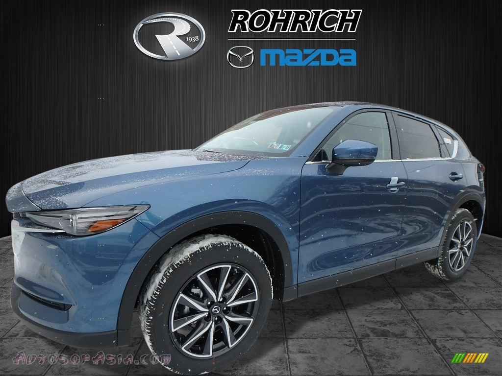 2018 CX-5 Grand Touring AWD - Eternal Blue Metallic / Black photo #4