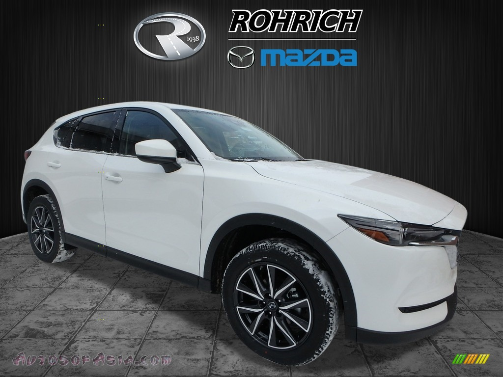 Snowflake White Pearl Mica / Black Mazda CX-5 Grand Touring AWD
