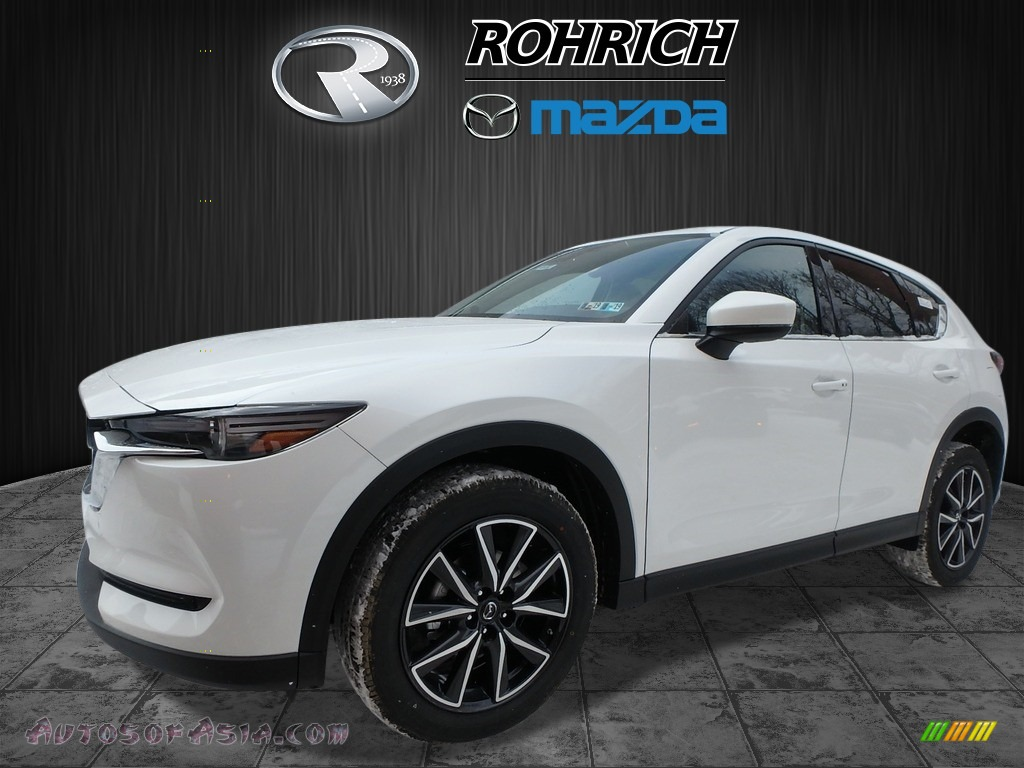2018 CX-5 Grand Touring AWD - Snowflake White Pearl Mica / Black photo #4