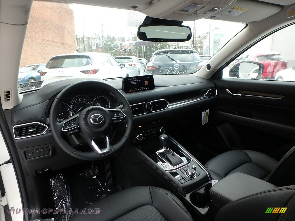 2018 CX-5 Grand Touring AWD - Snowflake White Pearl Mica / Black photo #9