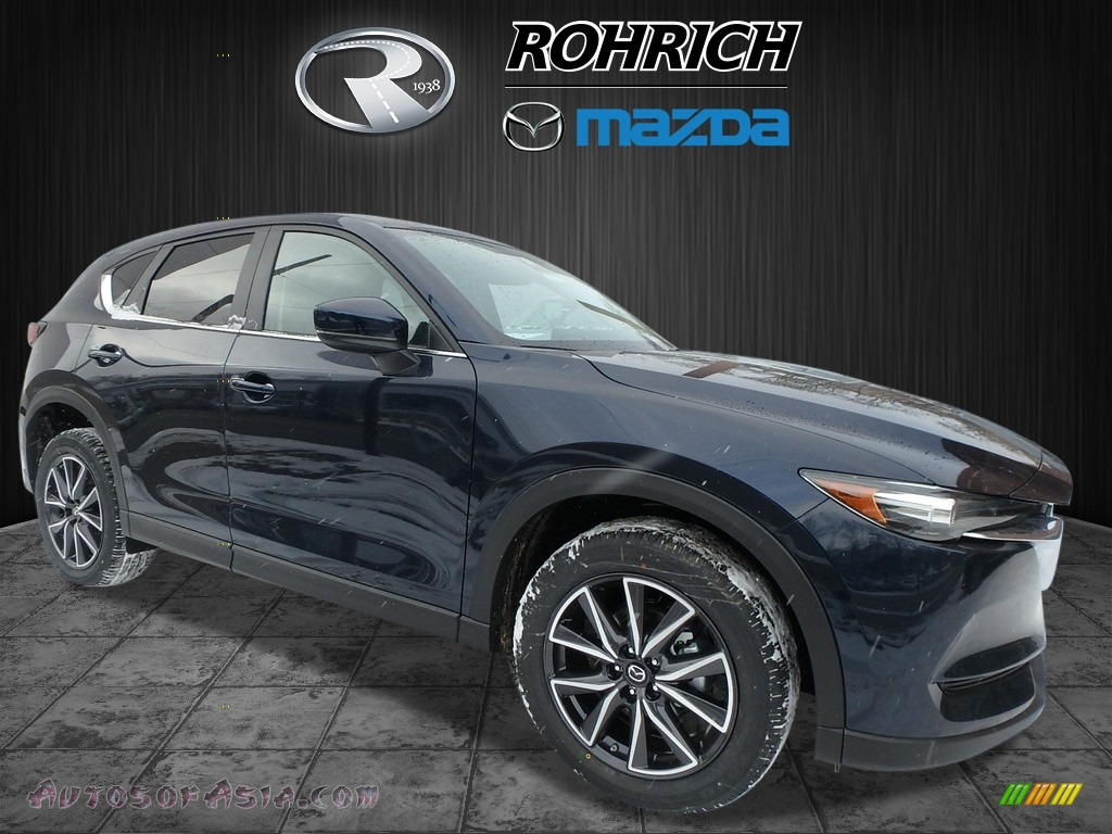 Deep Crystal Blue Mica / Black Mazda CX-5 Touring AWD