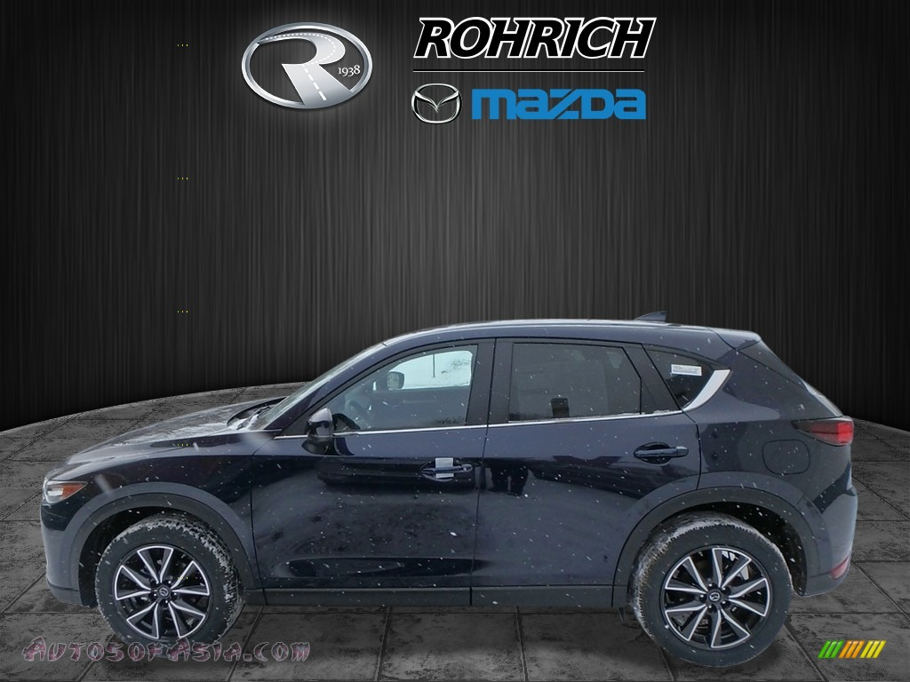 2018 CX-5 Touring AWD - Deep Crystal Blue Mica / Black photo #3