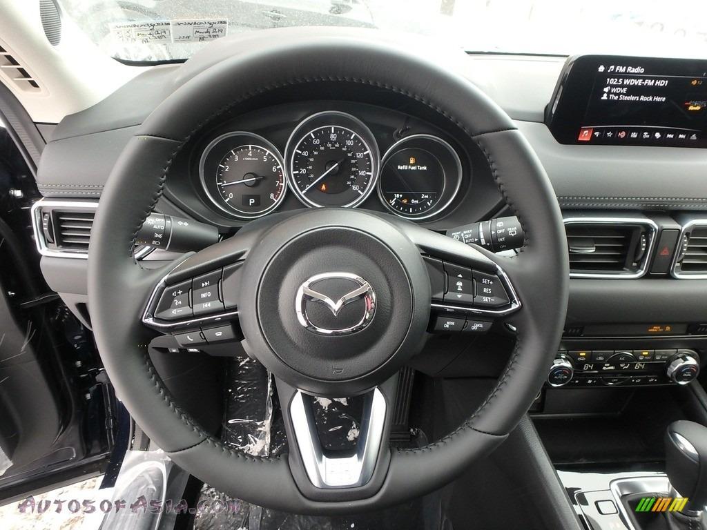 2018 CX-5 Touring AWD - Deep Crystal Blue Mica / Black photo #12