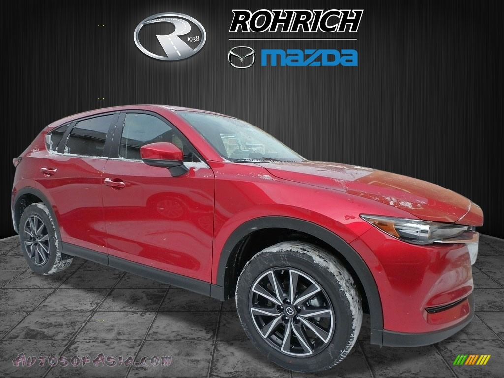 Soul Red Crystal Metallic / Black Mazda CX-5 Touring AWD